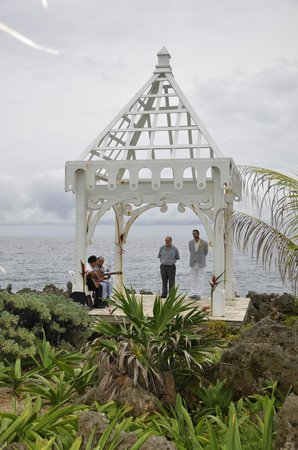 Bananarama Beach and Dive Resort:                                     Gazebo at The Meridian