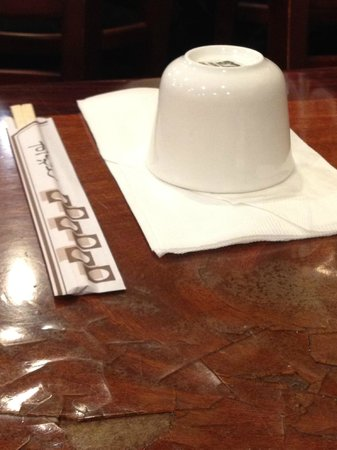 China Palace Restaurant:                   Chopsticks and tea cup