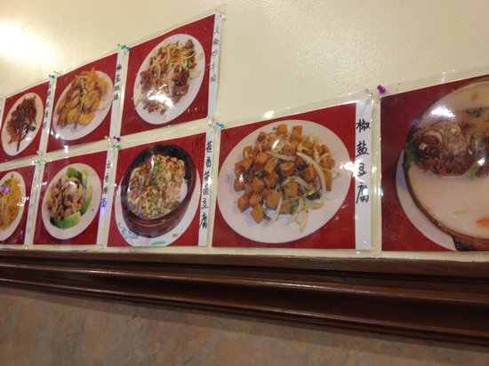 China Palace Restaurant:                   Menu on Wall