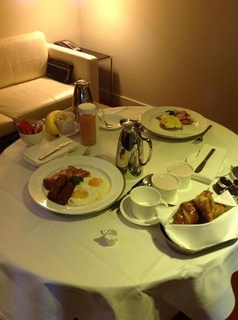 Park Plaza Westminster Bridge London english breakfast delivered to our room - menu items were & english breakfast delivered to our room - menu items were plenty ...