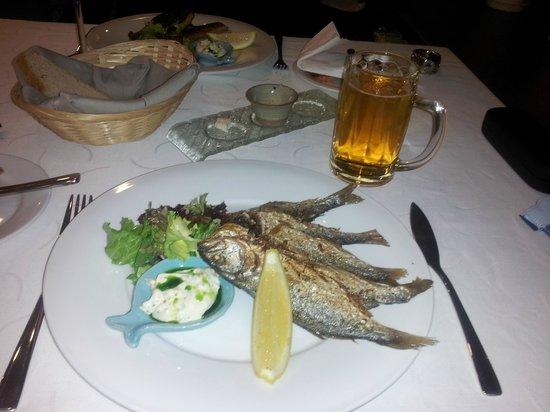 Fish Cafe:                   Blue fish --- very tasty