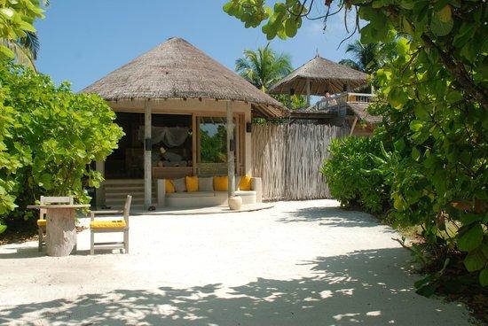Six Senses Laamu Ocean Beach Villa 88 Treetop Sundeck Topright