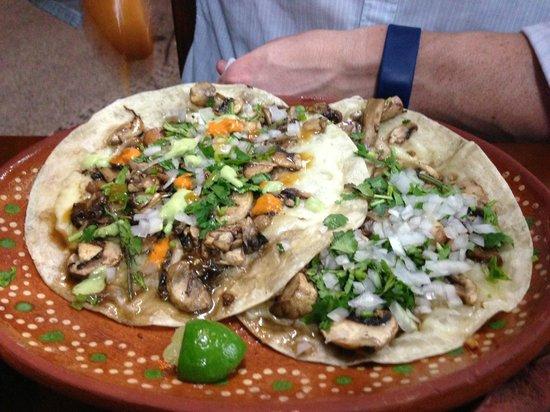 Pancho's Takos : Mushroom Quesadilla - delicious