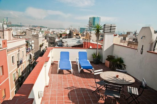 Barceloneta Suites: Roof-top terrace