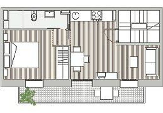 Barceloneta Suites: Distribution