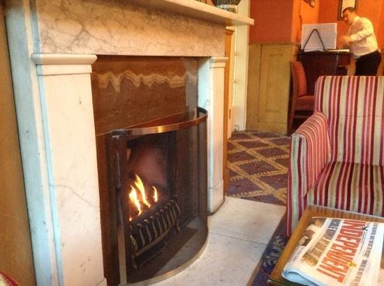 Etrop Grange: open fire very welcome