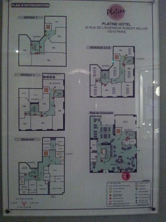 Platine Hotel : Floor plan