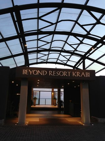 Beyond Resort Krabi:                   A warmth welcoming hotel entrance
