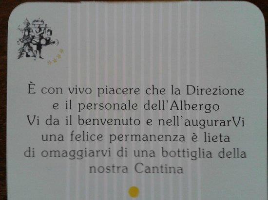 Albergo Cantine Ascheri: Presente di benvenuto