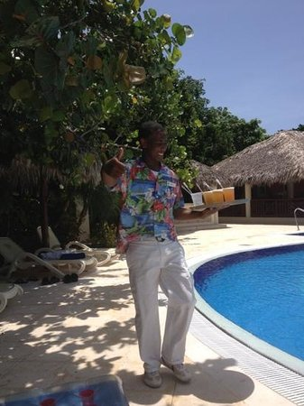 Luxury Bahia Principe Cayo Levantado:                                     you will never run out of drinks with this superstar on duty