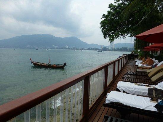 Amari Phuket:                   View from pool lounges deck
