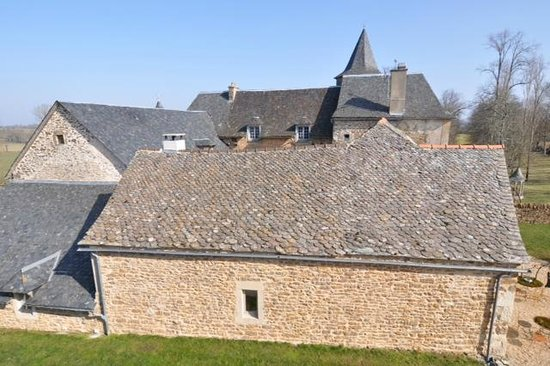 Chateau de Labro:                   vue depuis une des fenêtres de notre chambre