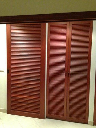 The Royal Tropical Beach at VIP Chain Resort:                                     The door of the bathroom and the doors of the closet
