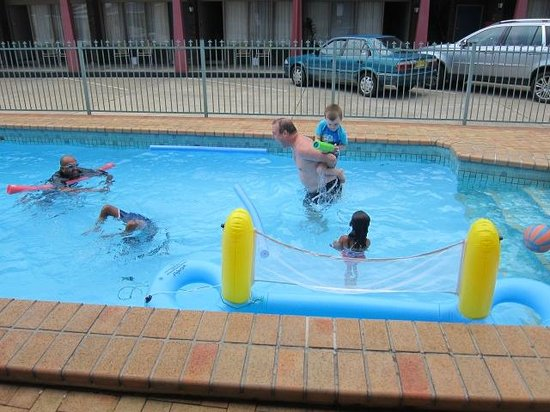 Best Western Zebra Motel:                   December 2012 in the playing with the kids in the pool