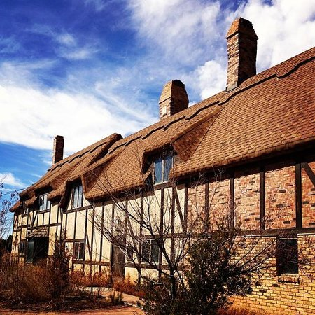 The Globe Theatre:                   Anne Hathaway Cottage, Globe Theatre, Odessa TX