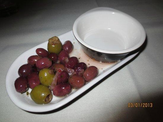 Bistro Mediterranean & Tapas Bar:                   Mixed olive amuse bouche