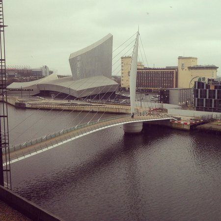 The Heart Apartments - MediaCityUK:                   View from a fourth floor apartment