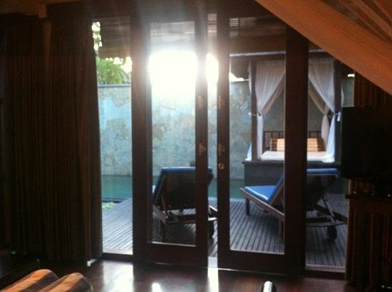 The Khayangan Villas:                   view from the bed