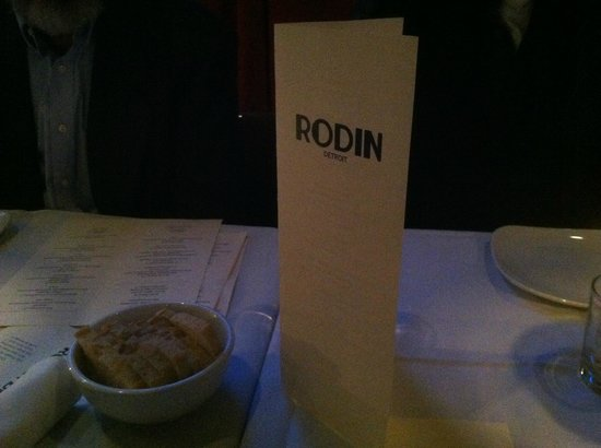 Rodin:                   tiny side of baguette