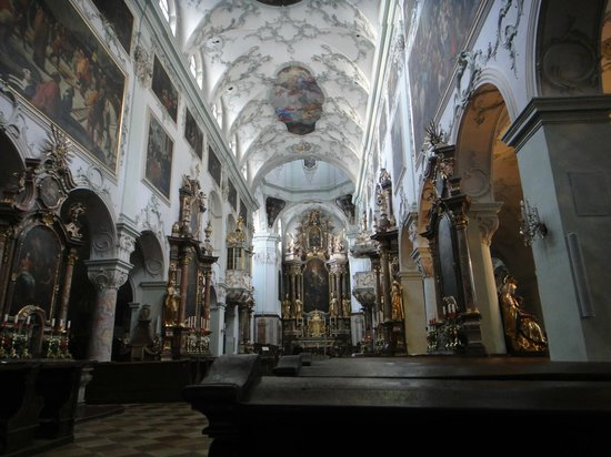 St. Peter's Abbey (Stift St. Peter): Wide view of the church
