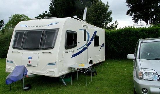 Camping Municipal La Cite d'Alet:                                                       Our Pitch June 2012