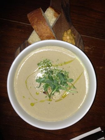 THE TREBY ARMS:                   gorgeous mushroom soup