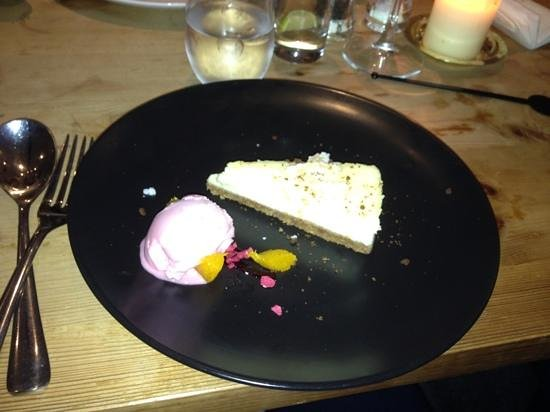 THE TREBY ARMS:                   white choc cheese cake