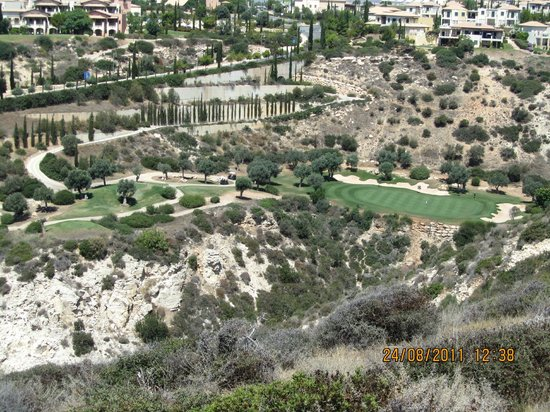 Aphrodite Hills Golf Course:                   Just over the valley....