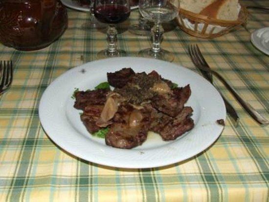 Il Castoro:                   ...Tagliata con porcini & tartufo...