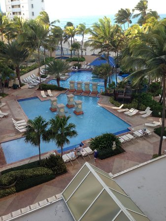 San Juan Marriott Resort & Stellaris Casino:                   View from my room