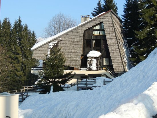 Chalet Morillon : Chalet from the side