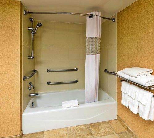 Hampton Inn Rockford: Guest Bathroom - Accessible Tub