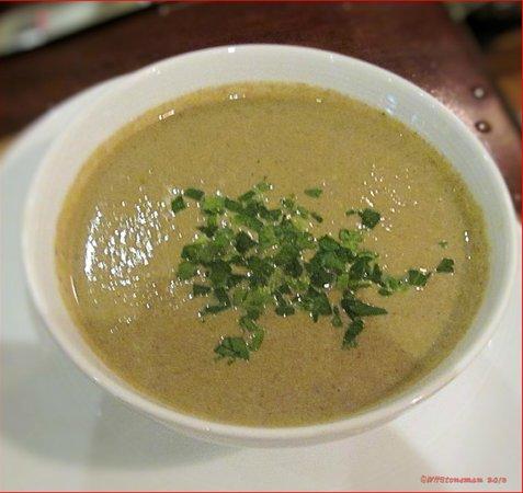 The Brasserie:                   Velvety Cream of Mushroom Soup
