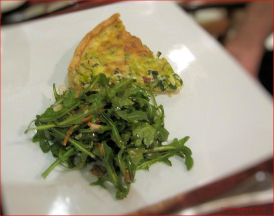 The Brasserie:                   The Daily Quiche with Green Salad