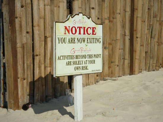 Fun Holiday Beach Resort:                                     Signs - This was right next to FHBR