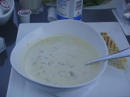 Casa Mia Restaurant:                   Super excellent clam chowder (The best on the island)