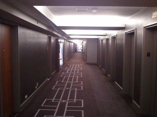 Grand Hyatt New York:                   pasillo de las habitaciones