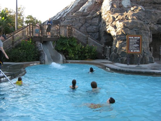 Disney's Polynesian Village Resort:                                     Volcano pool