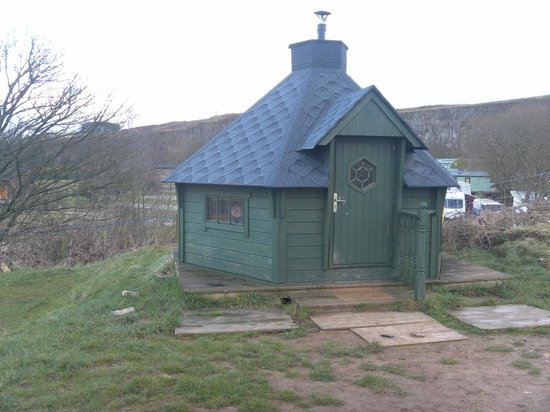 Rivendale Caravan & Leisure Park:                   The Wooden Yurt On Hill