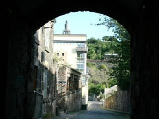 Atholl Brae Royal Mile: view down Old Tolbooth Wynd to Calton Hill