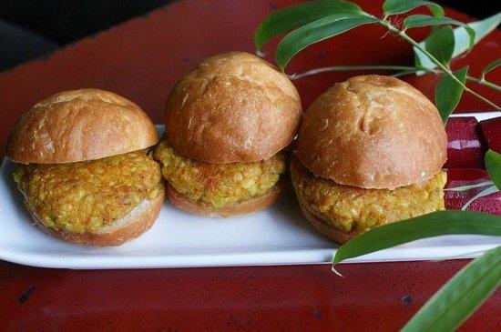 Slide Inn: Tofu, Vegetable, Brown Rice Sliders