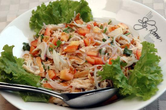 The Sky Room Dining: shredded chicken salad