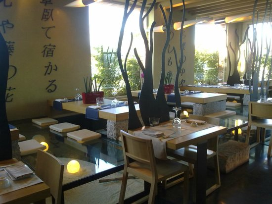 Miyama :                   vista sulla sala e tatami di vetro