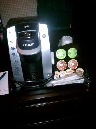 The Grand Hotel Minneapolis - a Kimpton Hotel:                   Asked for a ciffefe maker in the room.  Free Keurig provided!