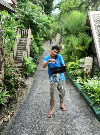 Centara Villas Phuket:                   Always smiling ,helpful  IT man ! Yes Wifi !