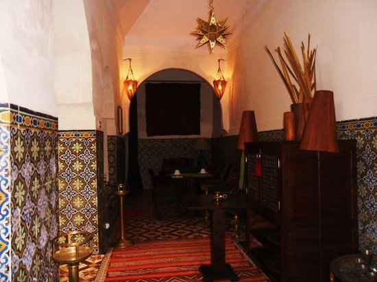 Riad Vert Marrakech:                   The lovely and very peaceful dining room