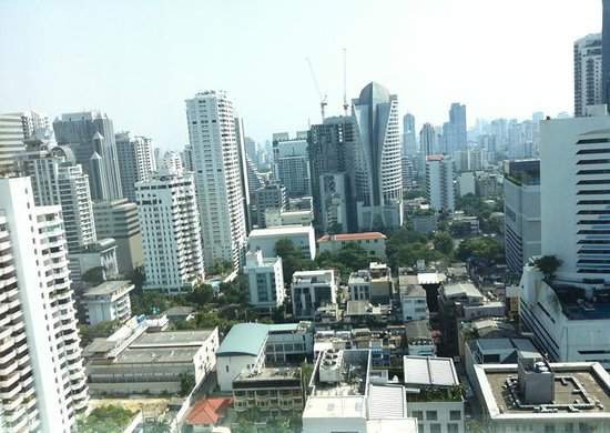 Sofitel Bangkok Sukhumvit:                   view from our room