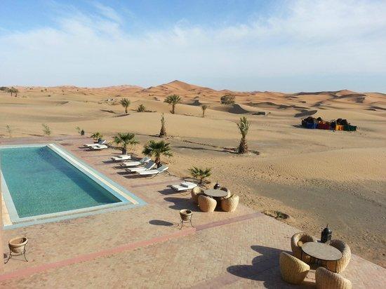 Hotel Kasbah Kanz Erremal:                   Vue de notre chambre