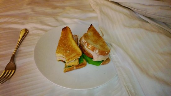 The Westin New York Grand Central:                   Tiny sandwich because I can't eat tomatoes