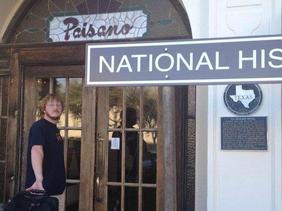 The Hotel Paisano:                   Entrance